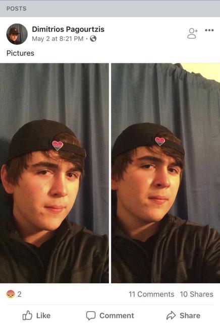 Dimitrios Pagourtzis (El tirador), de 17 años, en una fotografía de sus redes sociales.