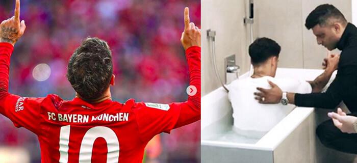 Famoso jugador de Futbol Coutinho se bautiza en Alemania