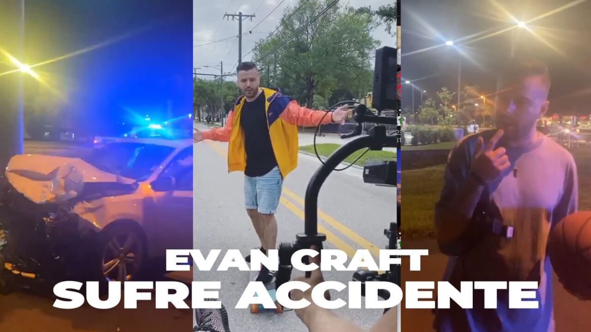 EVAN CRAFT sufre ACCIDENTE mientras GRABABA un VÍDEO 😭