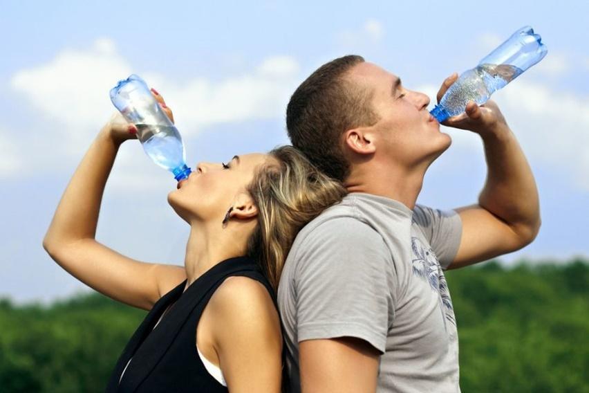 no verão beba muita água