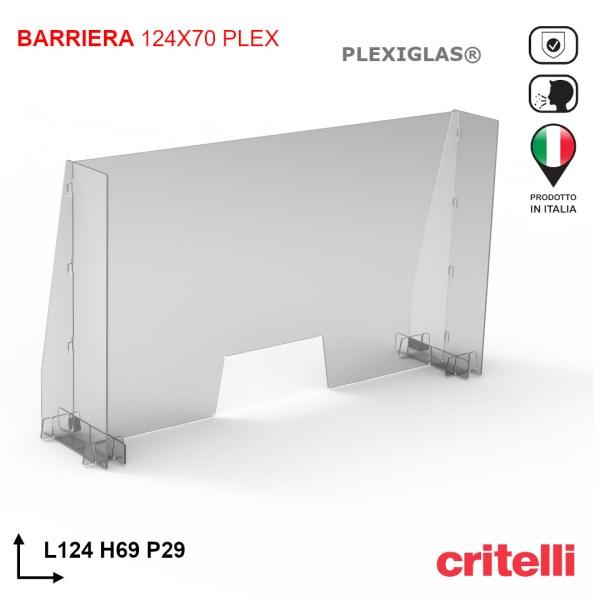 Barriere parafiato di protezione altezza 70 cm PLEX