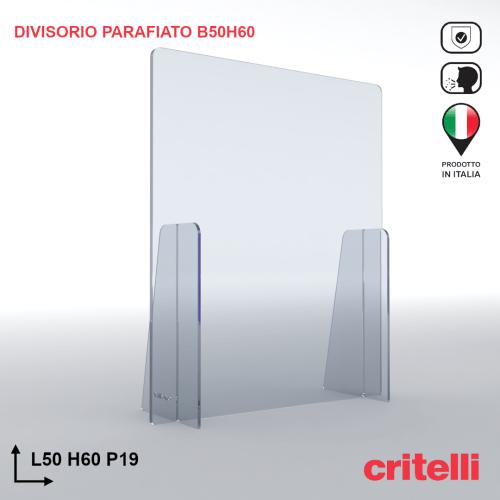 Divisorio barriera parafiato antiurto separè trasparente 50X60S3