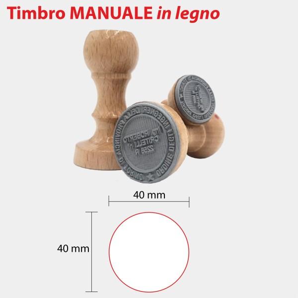 MANUALE IN LEGNO 40x40