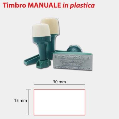 TIMBRO MANUALE PLASTICA 30X15