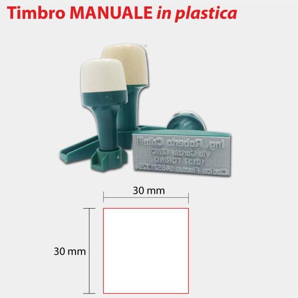 TIMBRO MANUALE IN PLASTICA 30X30