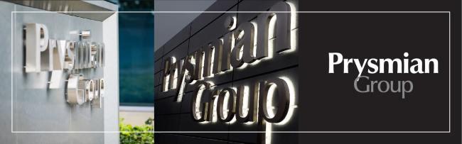 insegna luminosa lettere in rilievo 3D scatolate prysmian group milano
