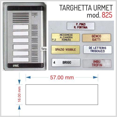 Targhetta urmet mod. 825 plexiglass