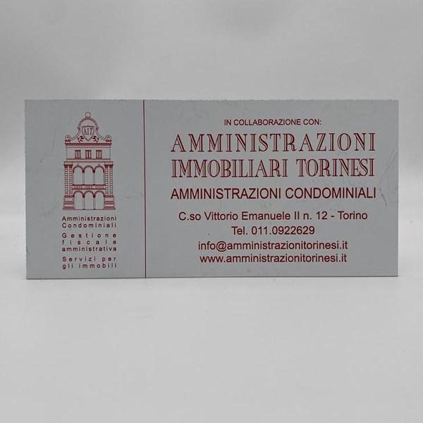 Targa per amministratori in alluminio composito