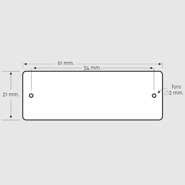 Targhetta pulsantiera ottone traforata 2 MISURA 61X21