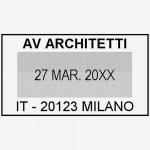 Impronta Timbro Trodat Professional Datario 5430 41x24 mm 2 righe