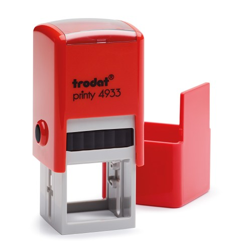 Timbro Autoinchiostrante a 5 righe Rosso 25x25mm Trodat Printy 4933