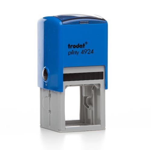 Timbro Autoinchiostrante a 7 righe Blu 40x40mm Trodat Printy 4924