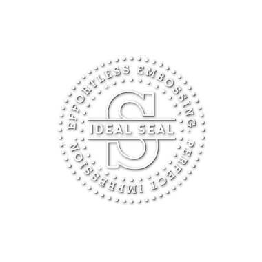 Trodat Ideal Timbro a Secco nero - 41 mm rotondo