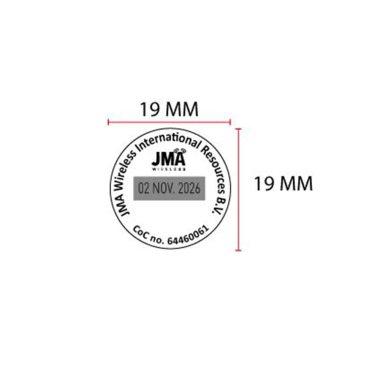 TRODAT PRINTY 46119 Timbro Autoinchiostrante Datario data italiana Rotondo Diametro 19 mm con testo personalizzato sino a 4 righe e Cartuccia Nera