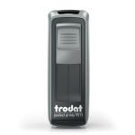 Timbro autoinchiostrante tascabila da viaggio trodat pocket printy 9511 grigio nero
