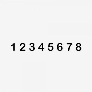 Timbro Autoinchiostrante JUSTRITE Numeratore SIN 1-8 8 colonne 4mm impronta