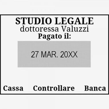 Timbro Manuale Trodat Classic Datario con piastra 2910 P02