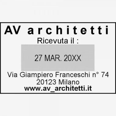 Trodat Classic 2910/P05 Timbro Datario con Data Italiana e piastra di testo personalizzata 54 x 34 mm
