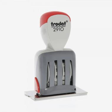Trodat Classic 2910/P09 Timbro Datario con Data Italiana e piastra di testo personalizzata 70 x 38 mm