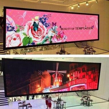 led wall interni vetrine negozi aziende rgb video