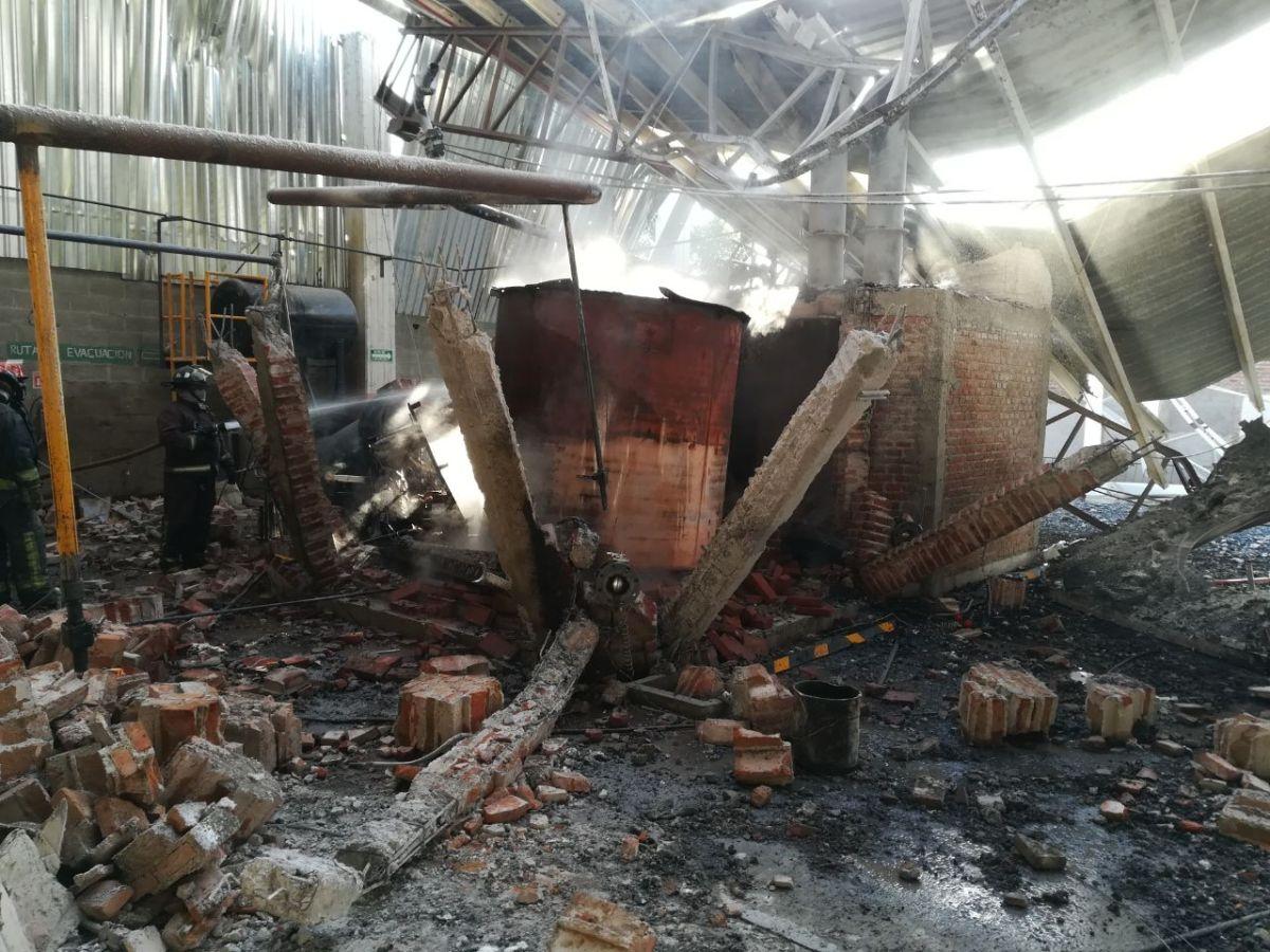 Se registra explosión en el reactor de una empresa, en Tizayuca