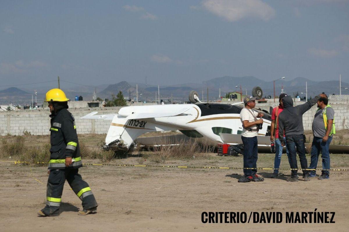 Cae avioneta en la colonia San Antonio de Pachuca