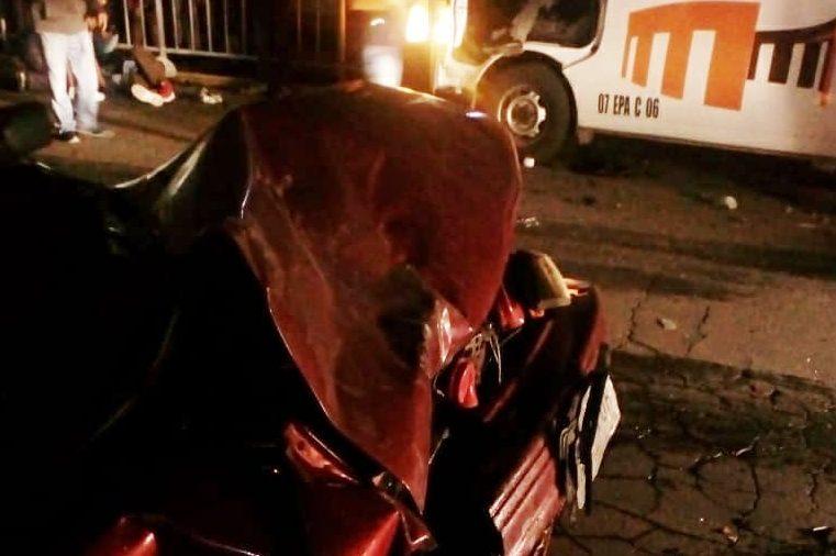 Deja choque a transporte siete lesionados en Pachuca
