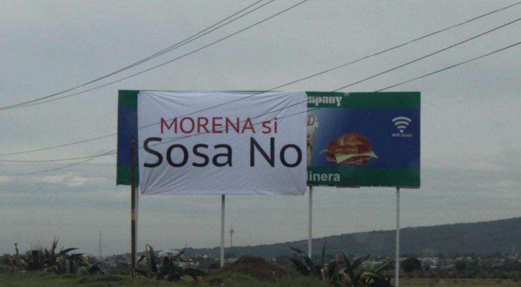 Colocan propaganda contra Sosa en espectaculares de la México-Pachuca