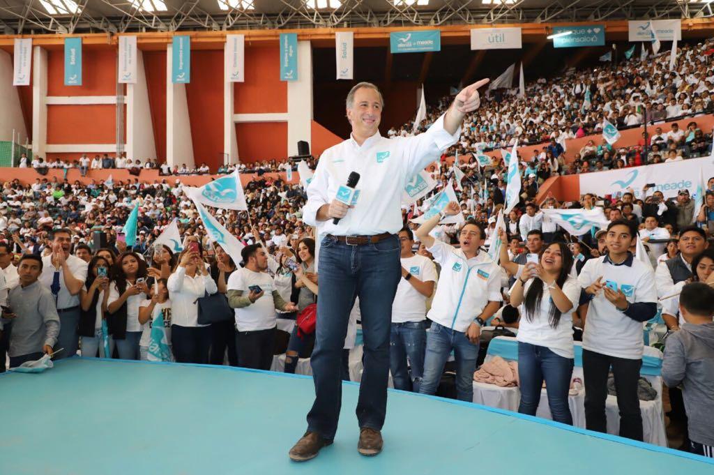 José Antonio Meade se presentó hoy en el Lienzo Charro de Pachuca