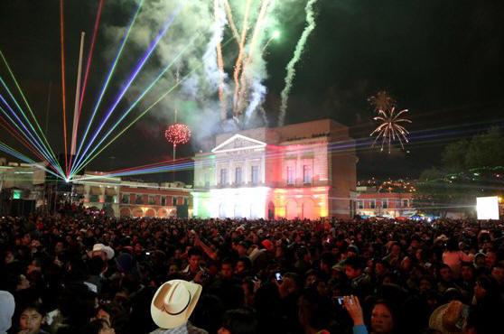 La Plaza Juárez de Pachuca a unas horas del grito de Independencia