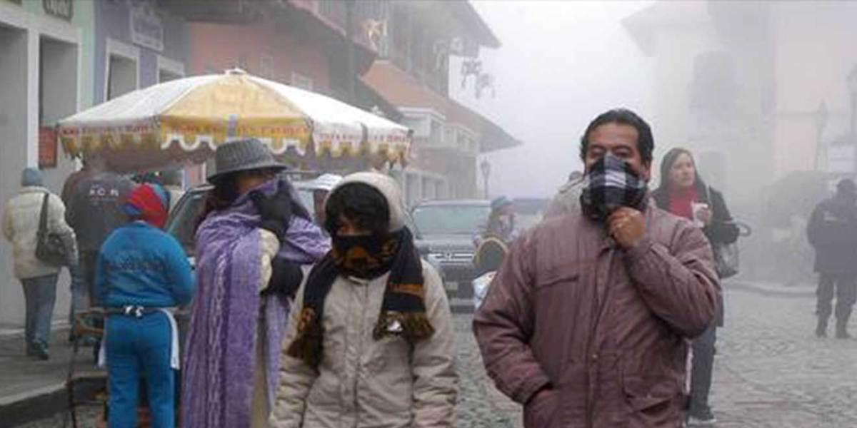 Pronostican sensación térmica de 1°C en Pachuca para esta noche