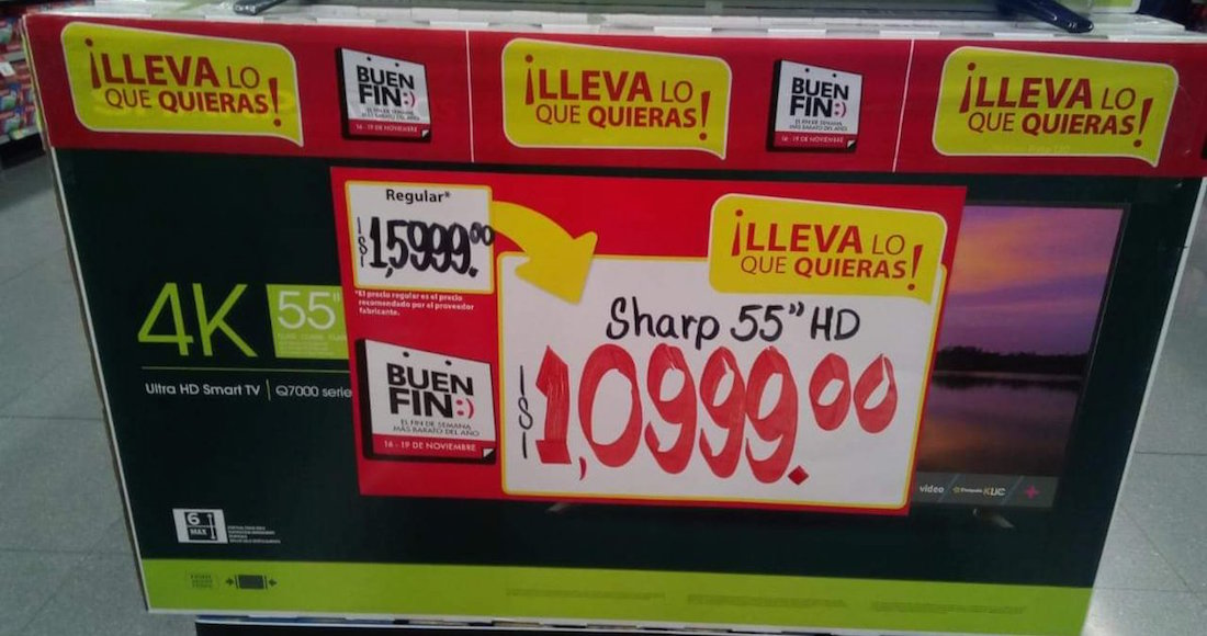 Por un error en el cartel, Walmart de Edomex remata pantallas LED (VIDEO)