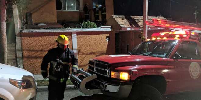 Se registró incendio en vivienda de la colonia Vista Hermosa de Pachuca
