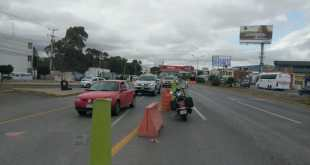 Se cerró la circulación en carriles centrales del bulevar Colosio de Pachuca, ¡aquí las alternativas!