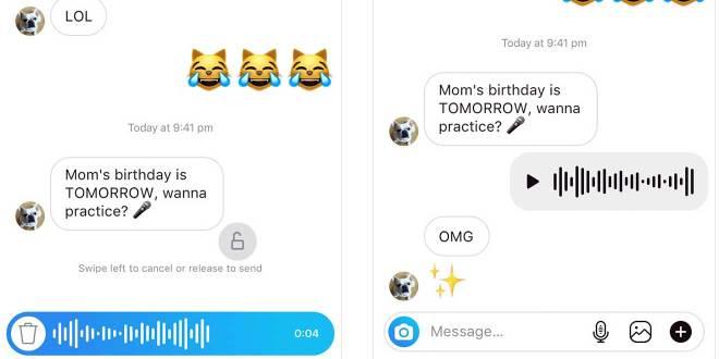 Agrega Instagram mensajes de voz