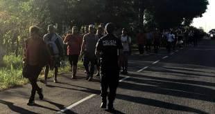 Ingresa caravana migrante a Chiapas