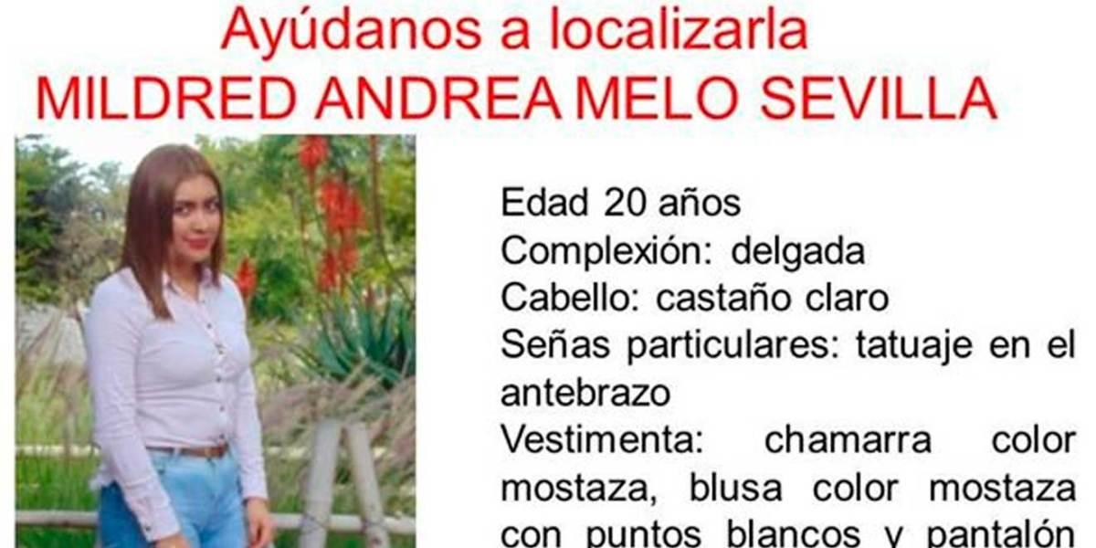 Se busca a Mildred Andrea Melo Sevilla; desapareció en Tulancingo