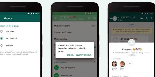 Modifican funciones en grupos de WhatsApp