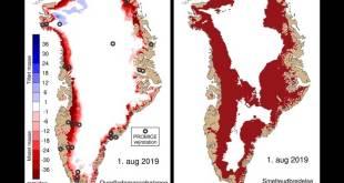 Pierde Groenlandia 11 mil millones de toneladas de hielo
