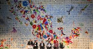 En la inauguración del tianguis de Pueblos Mágicos mostraron el tenango más grande del mundo