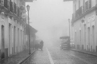 Frío y neblina en la montaña de Hidalgo