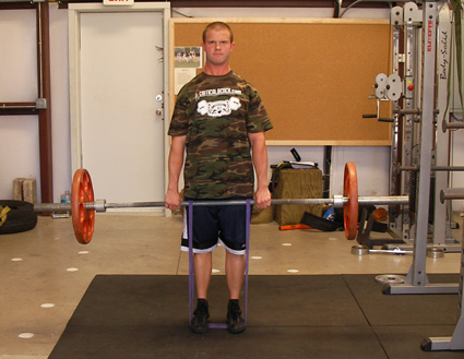 Resistance Band Deadlift Exercise Video Example