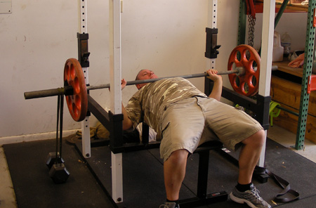 Bench Press With Bands Using Power Rack Chest Exercise