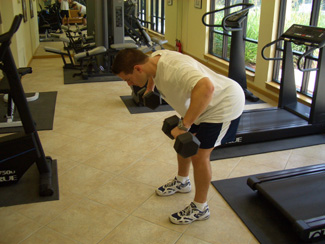 Two Arm Dumbbell Row Exercise