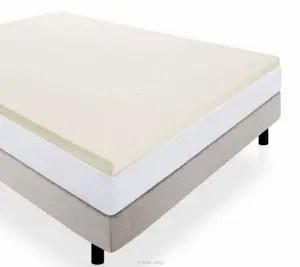 Lucid 2 Inch Ventilated Memory Foam Mattress Topper