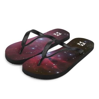 Space Themed Flip-Flops