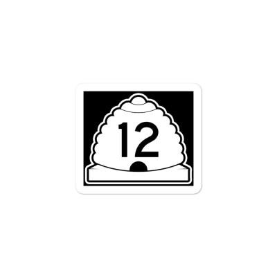 utah highway 12 sticker