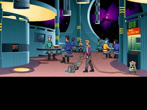 Even in Space Quest VI, Roger is shunted back into doing what he does best.