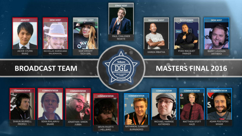 DGL Masters broadcast team