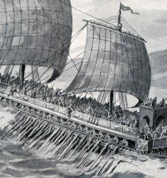greek warfare greek trireme [ 2500 x 1201 Pixel ]